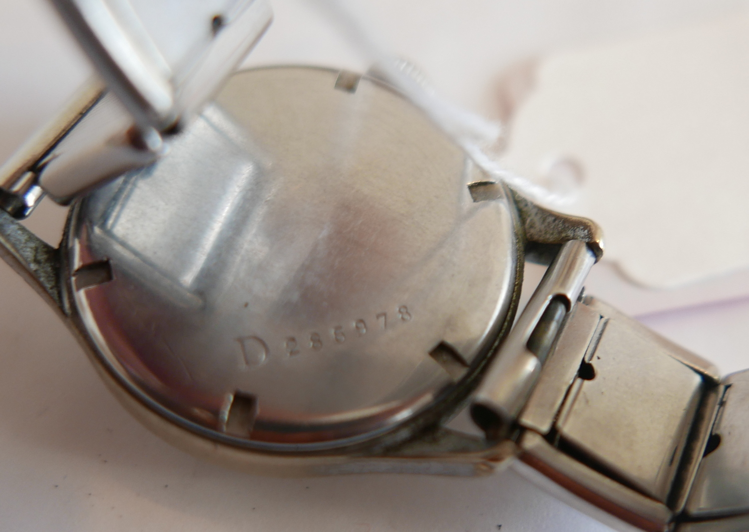 Lot 71 - Vintage Black Dial Siegerin Military Watch.