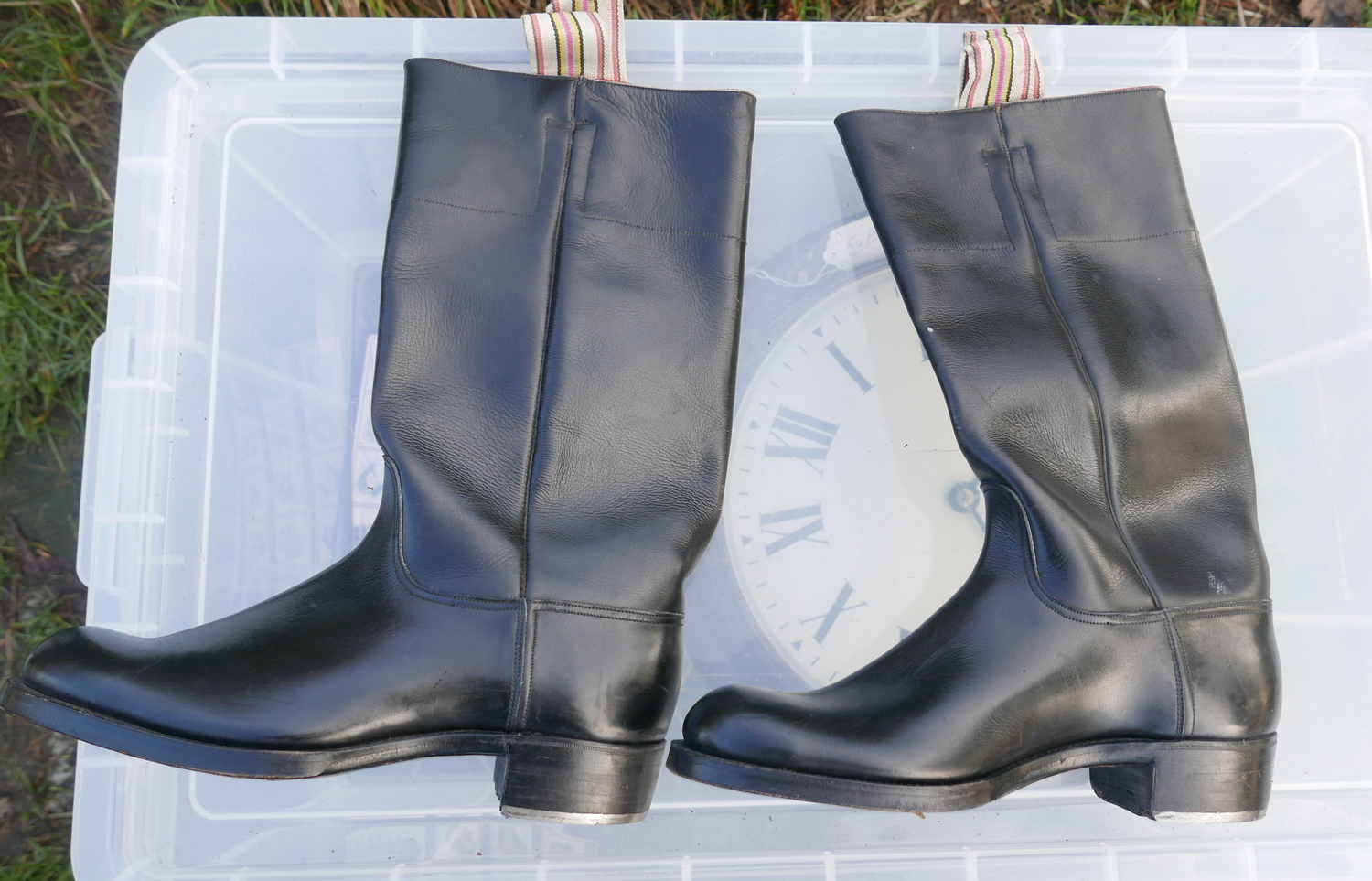 Lot 50B - Pair of Vintage Military Boots size 6.