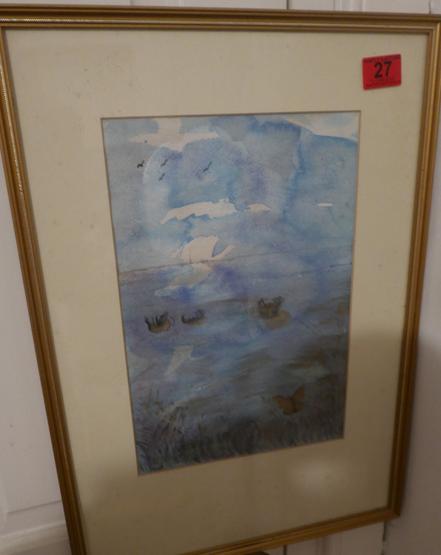 "Lot 27 - Carolyn James ""Blind Artist"" Watercolour - Twilight - actual watercolour 34cm x 23cm."