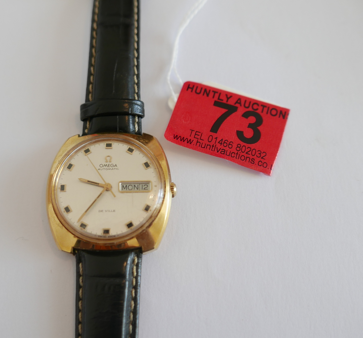 Vintage Omega Automatic Gold Plated De Ville Gents Wristwatch.