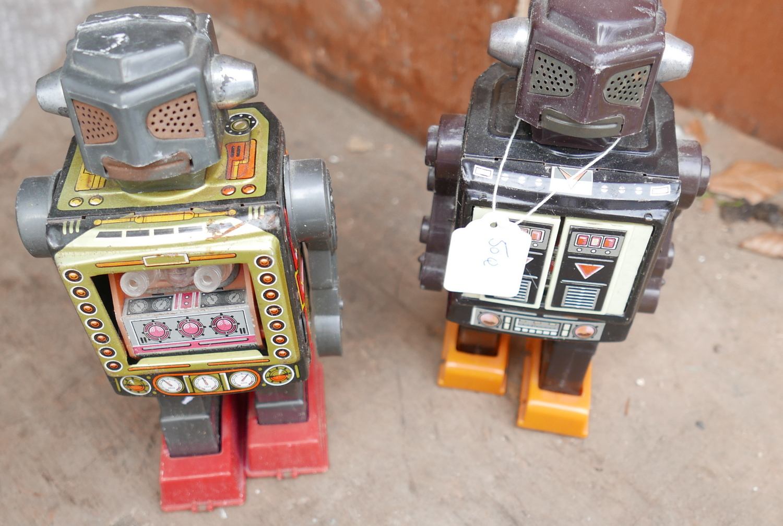 Lot 50Q - Pair of Vintage Toy Robots.