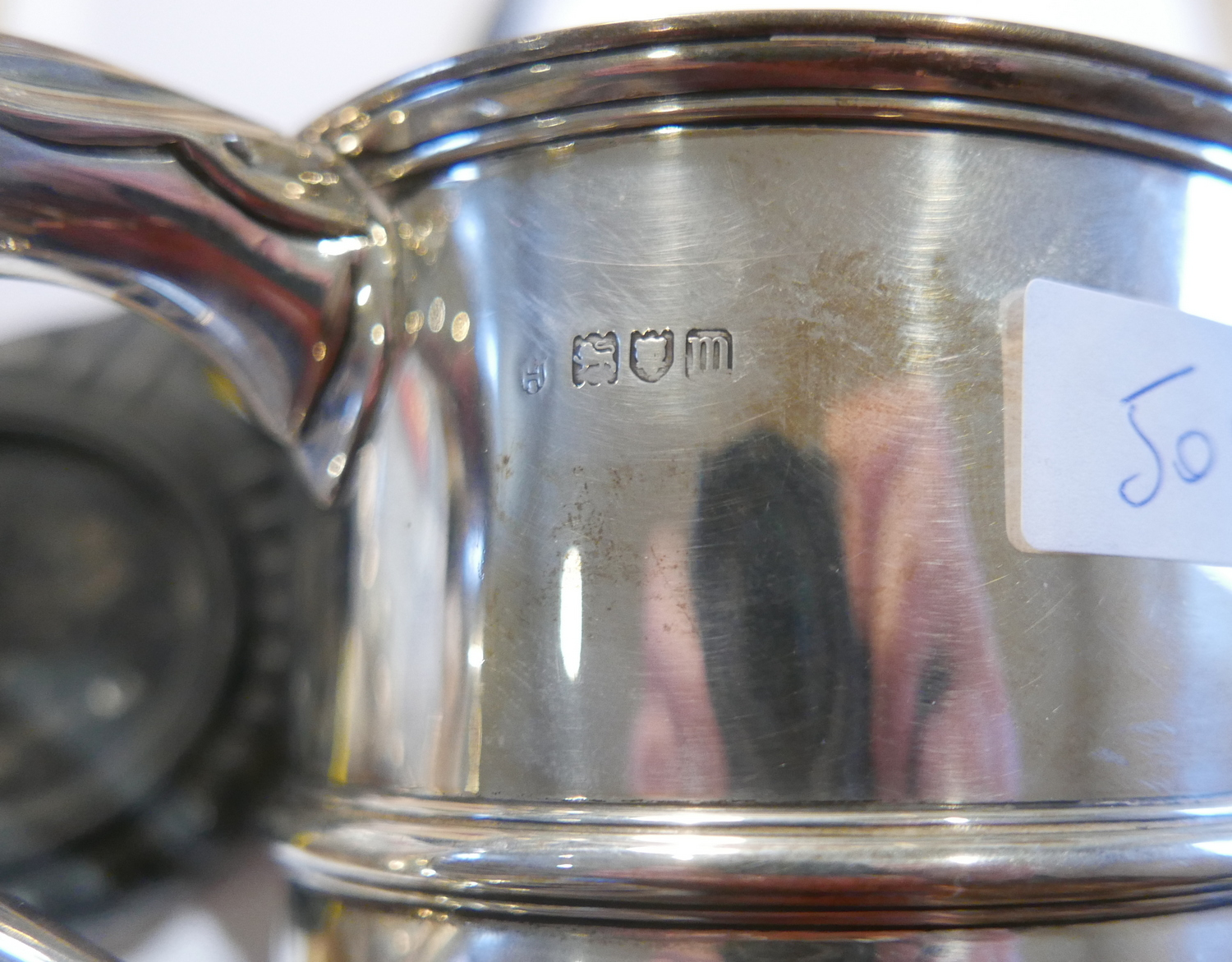 Lot 50Y - Antique Solid Silver Agricultural Trophy - 215mm wide and 145mm tall - total weight 355 grams.