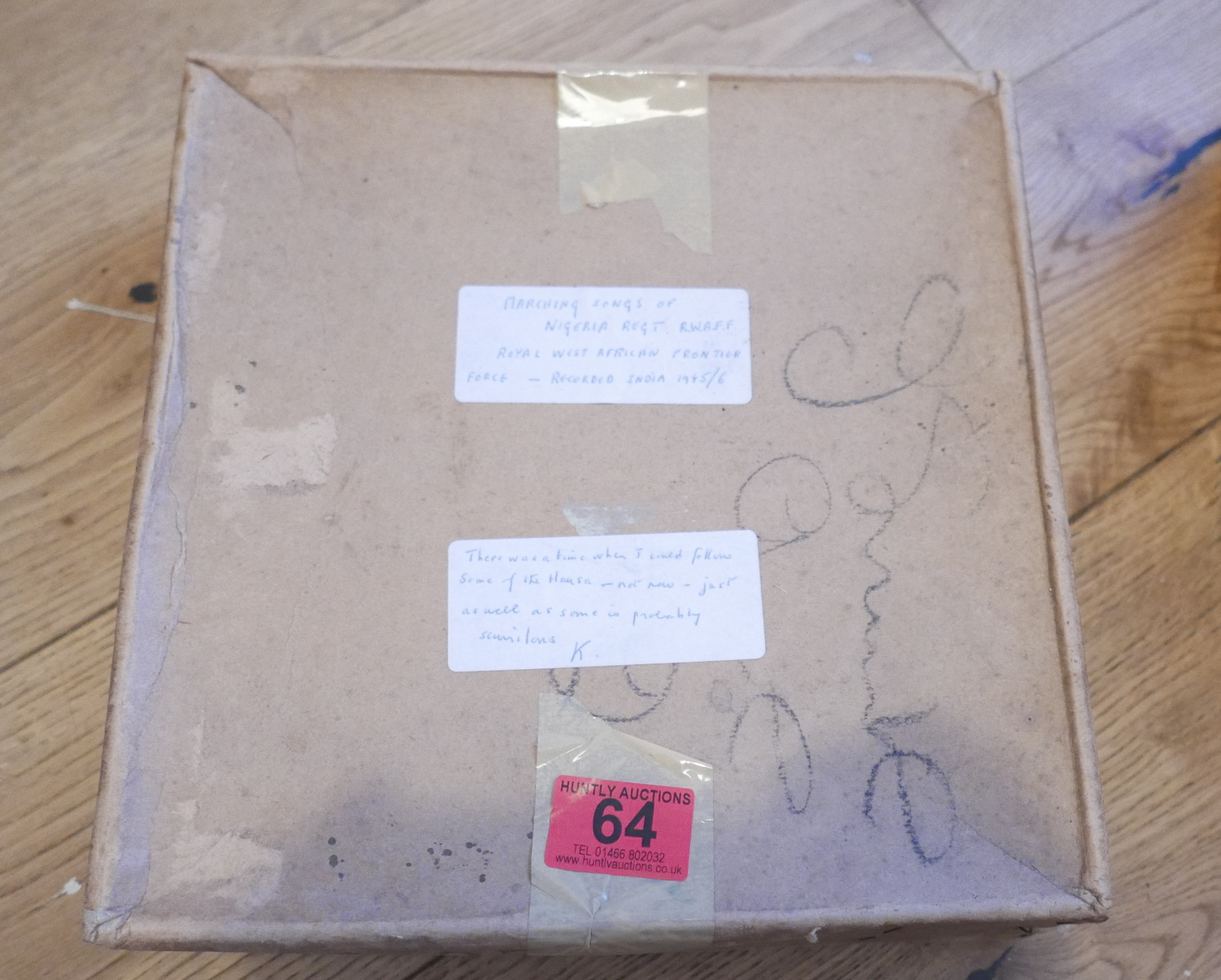 Lot 64 - Boxed Set of 6 (78) Records Marching Songs of Nigerian Regt RWAFF recorded India 1945/46.