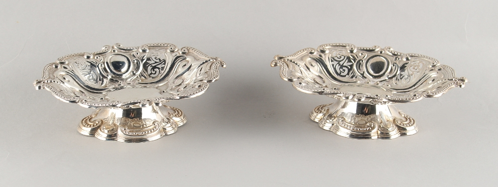 Lot 235 - Property of a deceased estate - a pair of Victorian silver pierced pedestal bonbon dishes, Sheffield