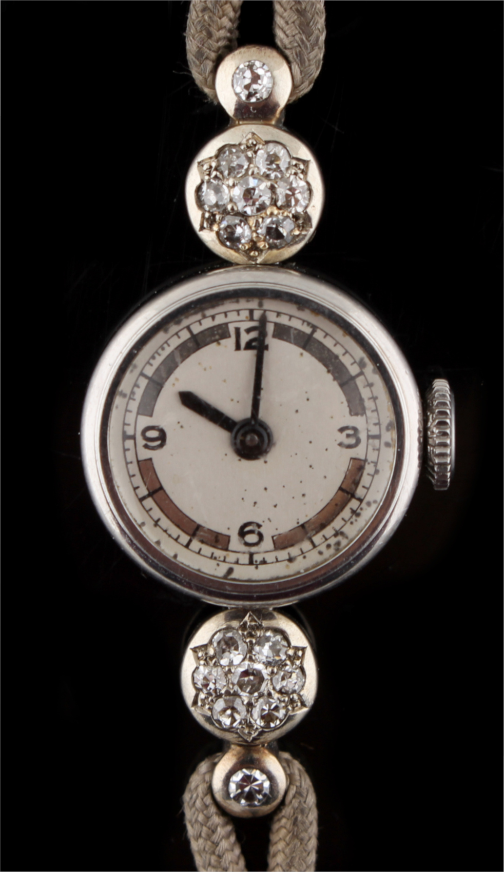 Lot 6 - Property of a lady - a lady's diamond cocktail watch, probably Vacheron & Constantin, with