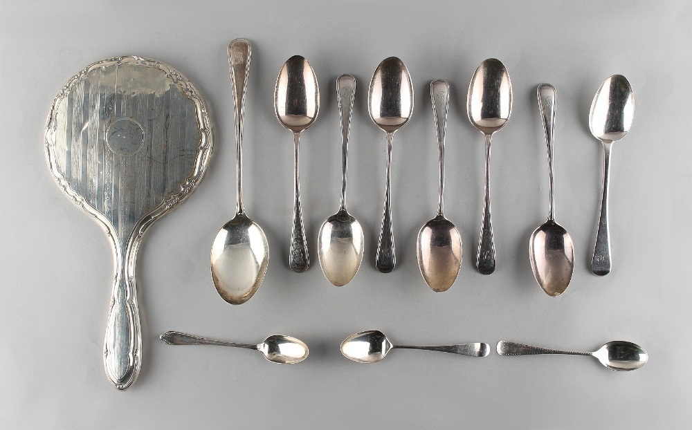 Lot 230 - Property of a deceased estate - a quantity of silver flatware including a set of six American