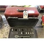 LOT: Tool Box with Misc. Hand Tools, Socket Sets