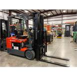 "2008 TOYOTA ELECTRIC FORKLIFT MODEL 7FBEU15, 3,000 LB CAPACITY, 170.5"" HEIGHT CAPACITY, TILT, SIDE S"