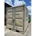 UNUSED 2020 PORTABLE OFFICE CONTAINER WITH WINDOW & SIDE DOOR.