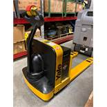 YALE ELECTRIC PALLET JACK MODEL MPW050, 24V, 5,000 LB CAPACITY, RUNS AND OPERATES