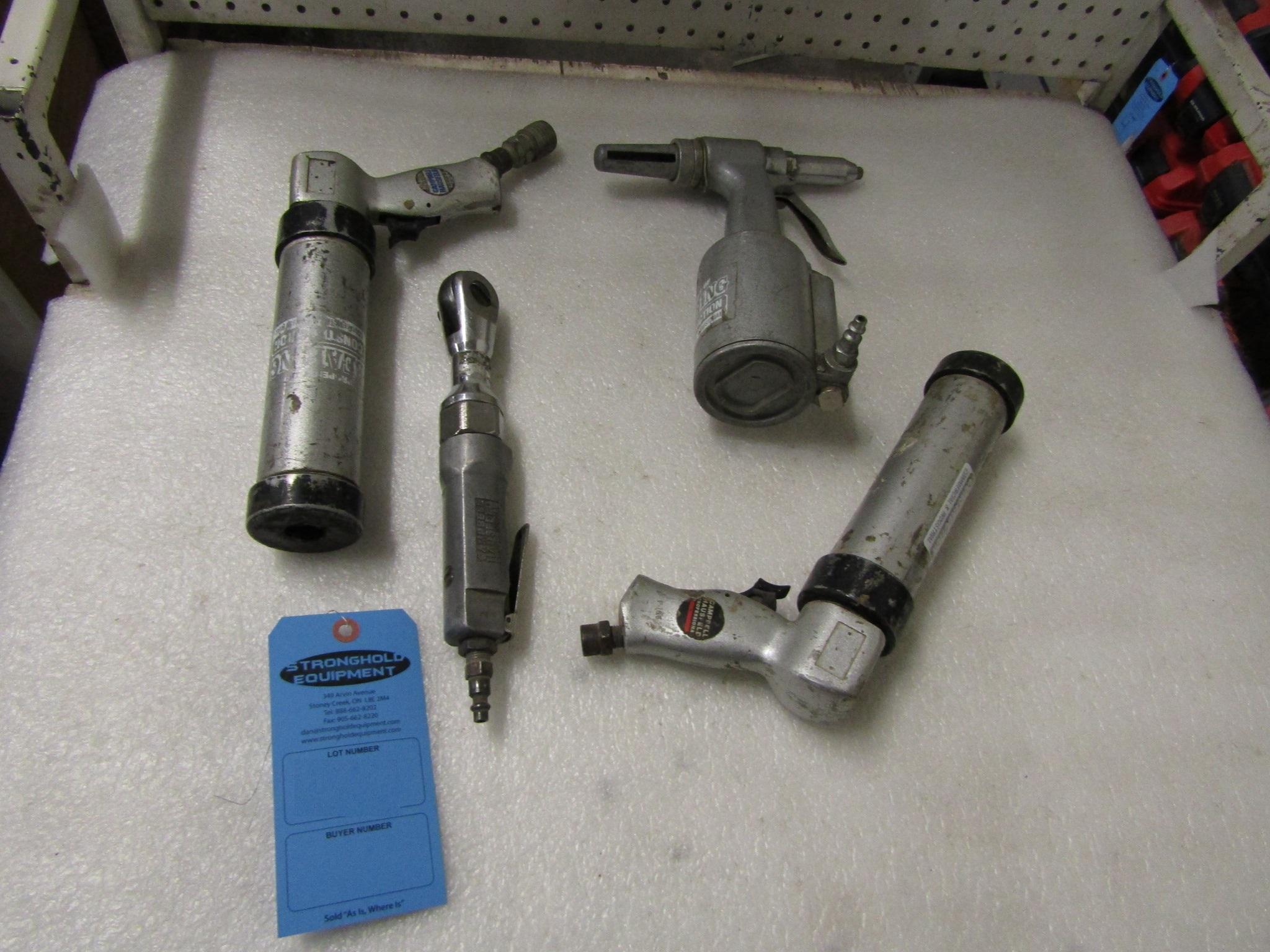 Lot 6 - Lot of 4 units - 3 x Air Caulking / Sprayer & Pneuamatic Angle Wrench