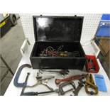 Tool Box with assortred clamps and wrenches