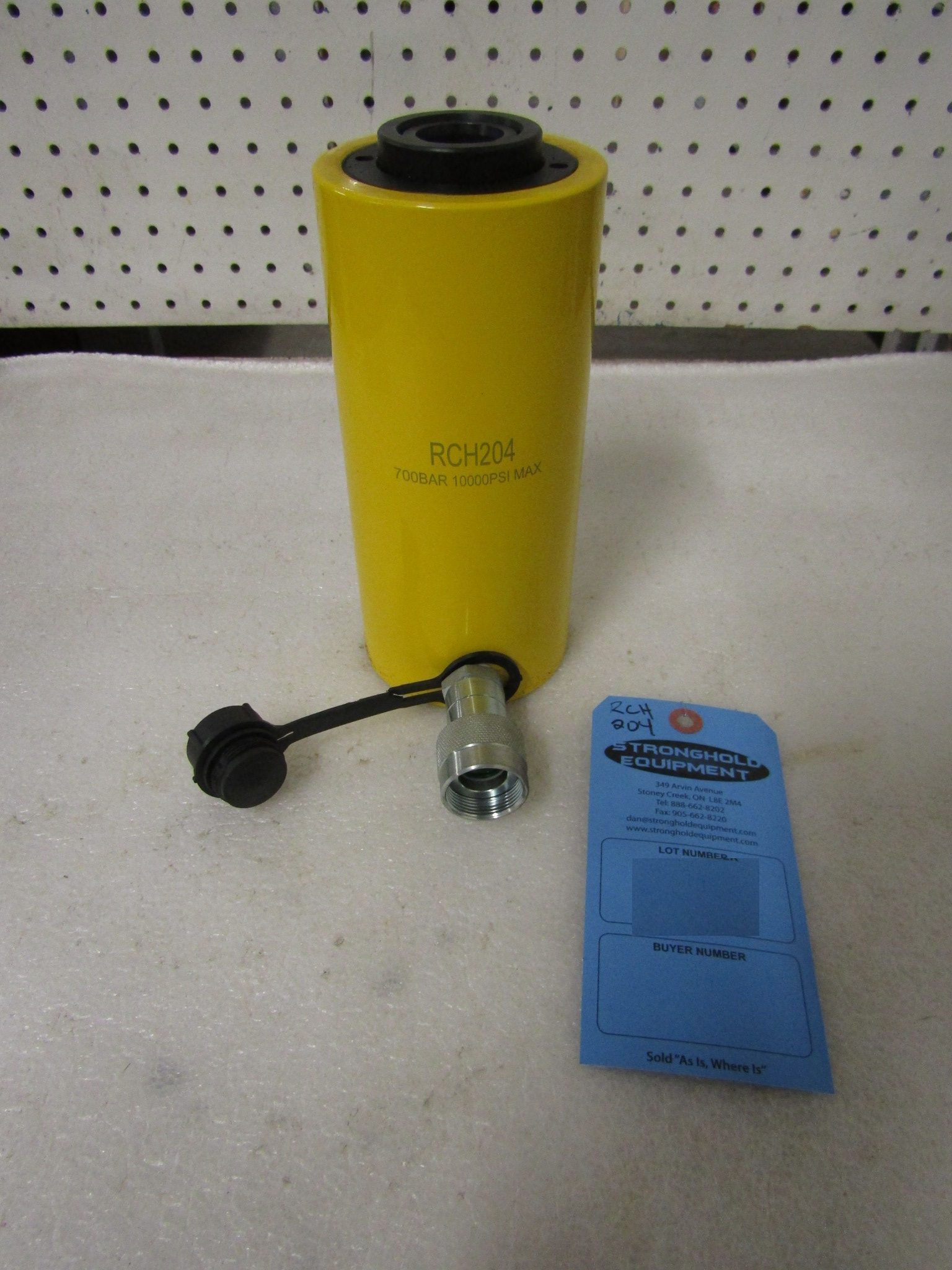 """RCH-204 MINT Hole Jack - 20 ton Hollow Hydraulic Jack with 4"""" stroke - hole through type cylinder"""