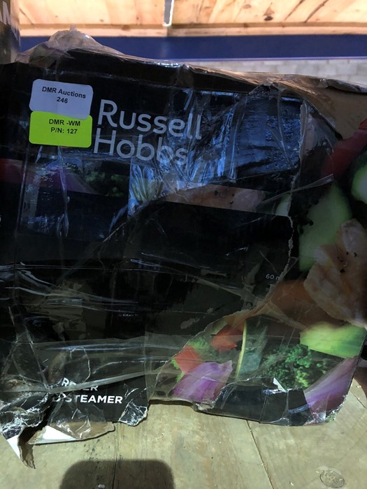 Lot 246 - 1 BOXED RUSSELL HOBBS THREE TIER FOOD STEAMER / RRP £27.99 (PUBLIC VIEWING AVAILABLE)