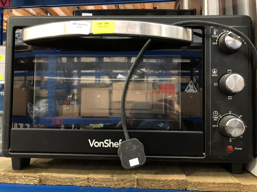 Lot 420 - 1 VONSHEF 28L MINI OVEN COOKER AND GRILL / RRP £64.99 (PUBLIC VIEWING AVAILABLE)