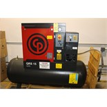 Lot 32 - SCREW TYPE AIR COMPRESSOR, CHICAGO PNEUMATIC, 15 HP, ORS-15, 150 gal. tank