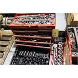 Lot 9 - LOT OF TOOLBOXES, w/wrenches, sockets, etc.