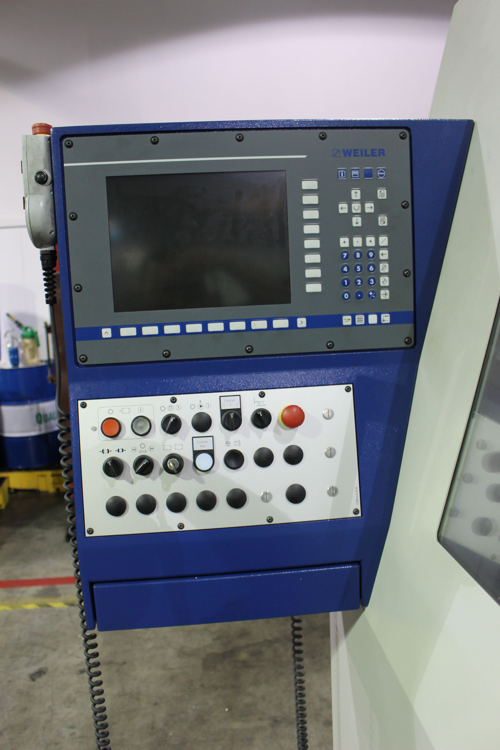 Lot 24 - CNC HOLLOW SPINDLE LATHE, WEILER MDL. E90X3000, new 2013, Weiler/Siemens electronic control, 35.4""