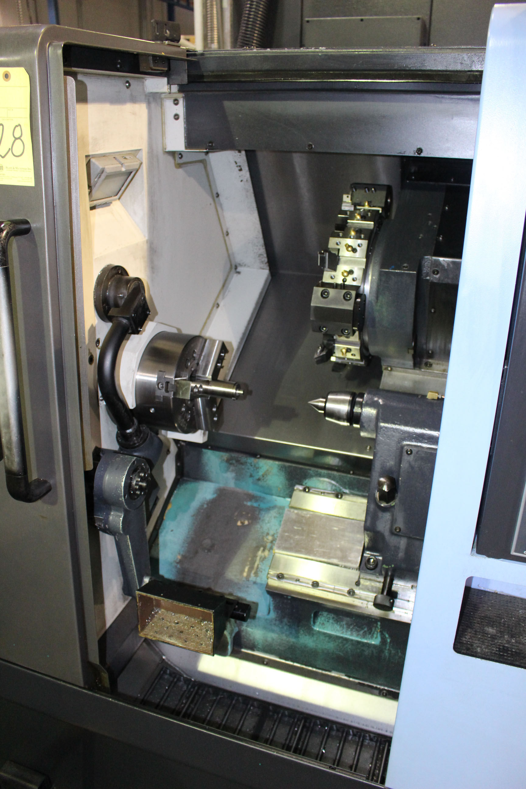 "Lot 28 - CNC LATHE, DOOSAN LYNX MDL. 220LC, new 3/2014, Fanuc 31i CNC control, 20.1"" sw. over bed, 11.4"""