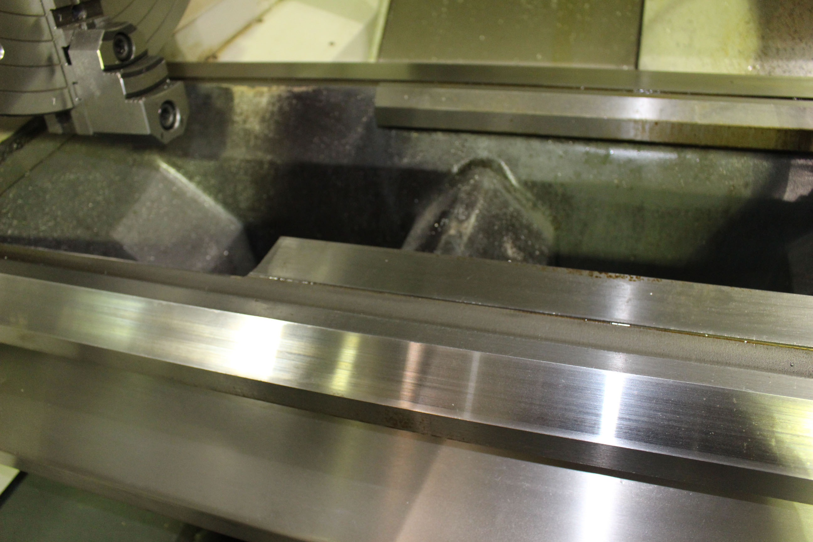 """Lot 24 - CNC HOLLOW SPINDLE LATHE, WEILER MDL. E90X3000, new 2013, Weiler/Siemens electronic control, 35.4"""""""