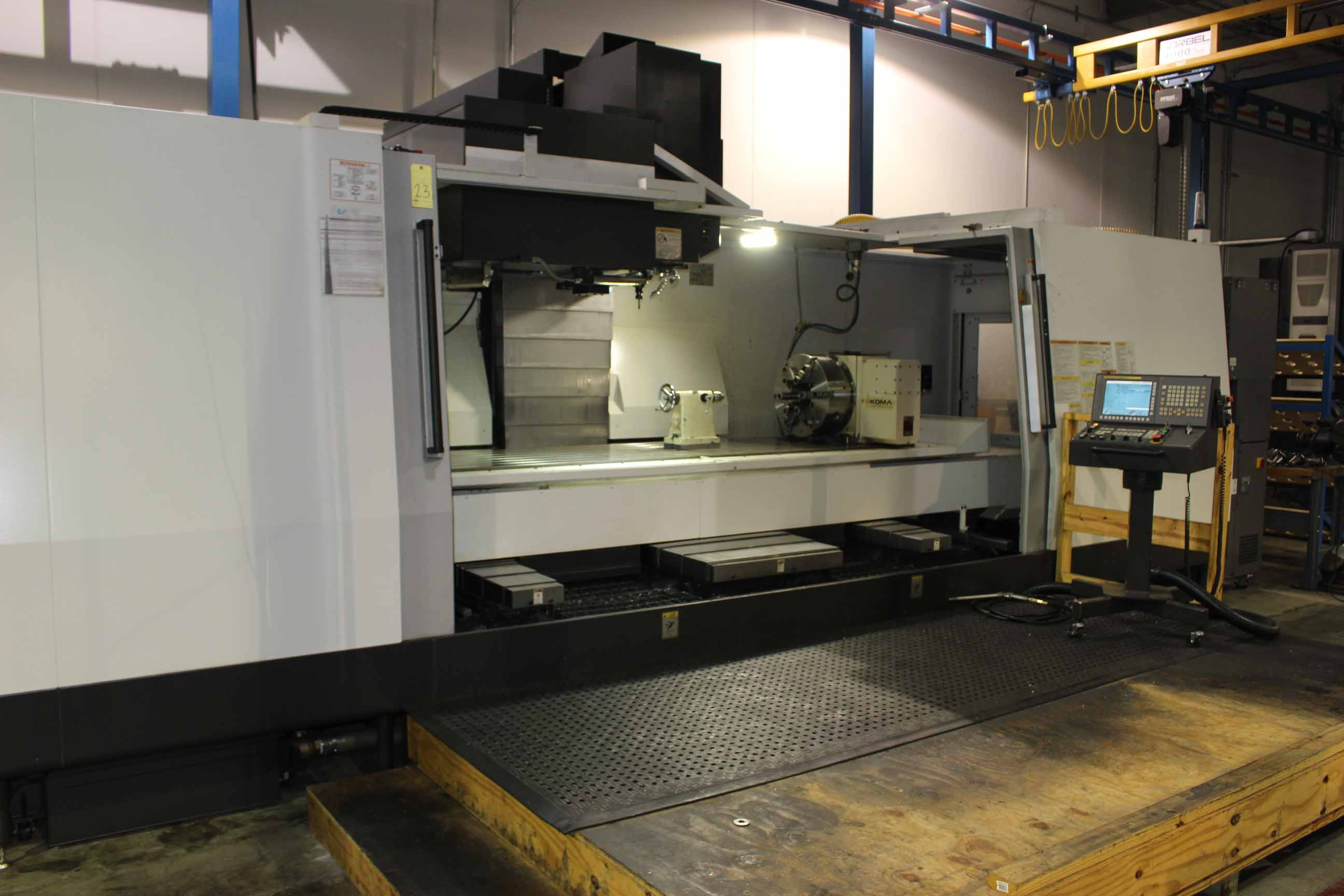 Lot 23 - VERTICAL MACHINING CENTER, OKUMA MDL. MILLAC 852VII 4-AXIS, new 12/2013, installed new 2014, Fanuc