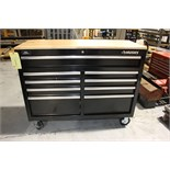 TOOLBOX, HUSKY, 9-drawer, wood top