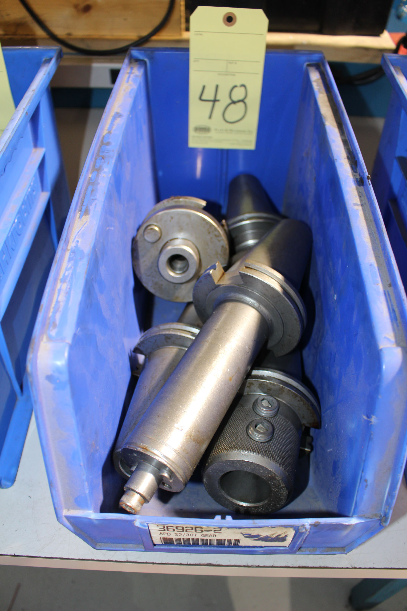 Lot 48 - LOT OF CAT-50 TOOLING, approx. 5 (in one bin)