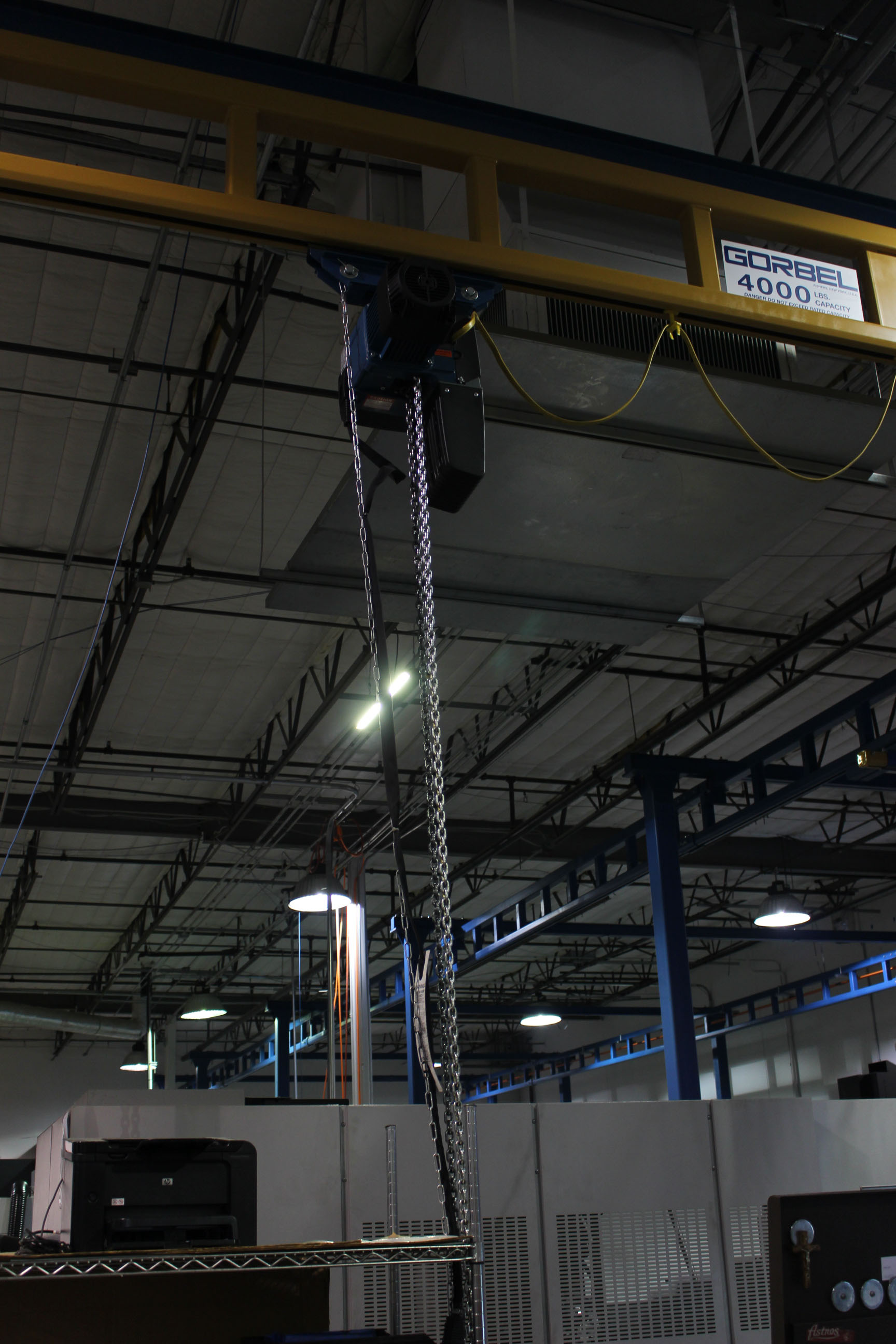 "Lot 31 - OVERHEAD BRIDGE CRANE SYSTEM, GORBEL 4,000 LB. X 26'-6"" SPAN, new 2014, sgl. bridge, manual bridge"
