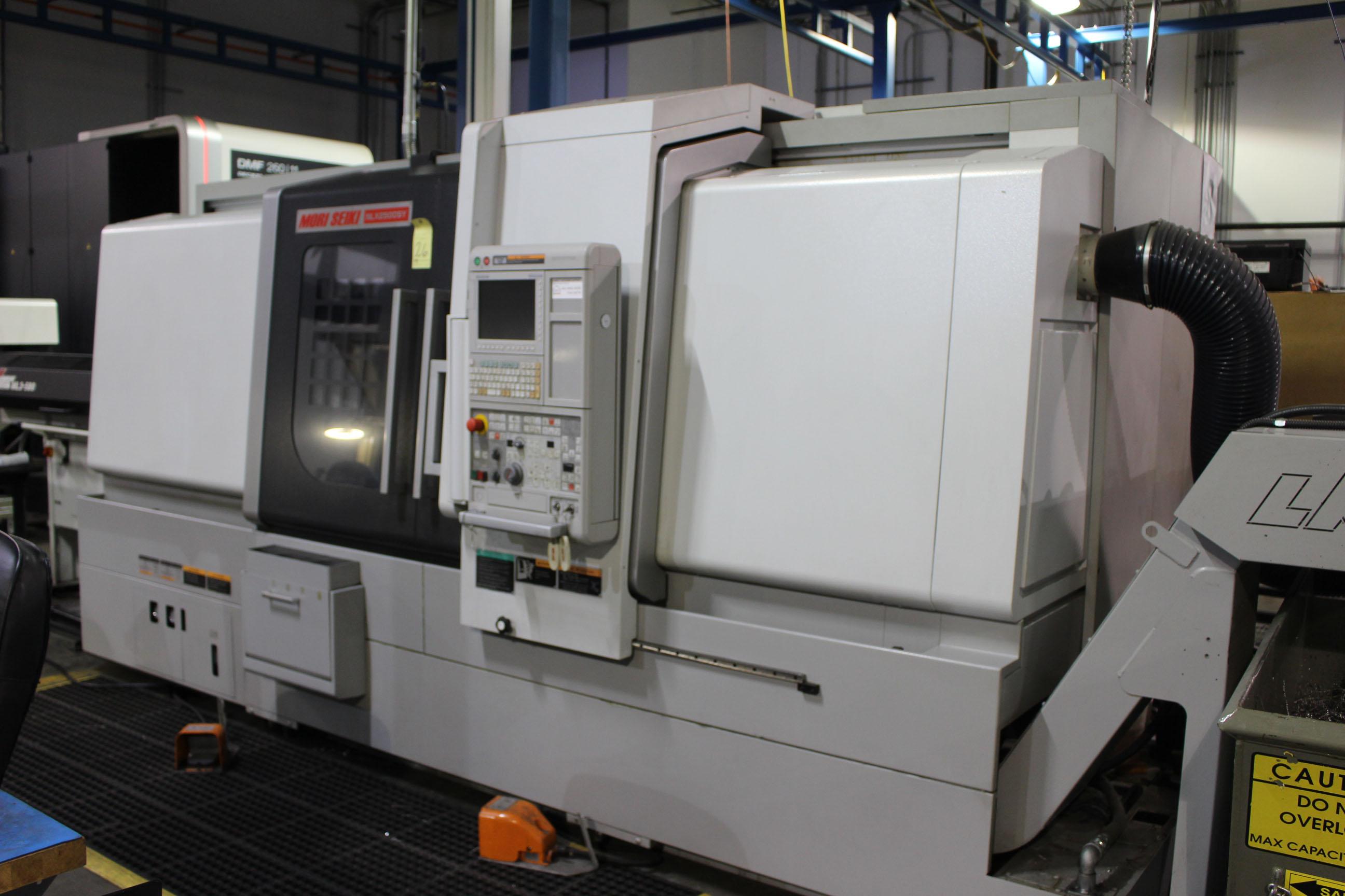 Lot 26 - CNC LATHE, MORI SEIKI MULTI-AXIS MDL. NLX2500SY/1250, new 10/2012, Mori Seiki M730BM CNC control,