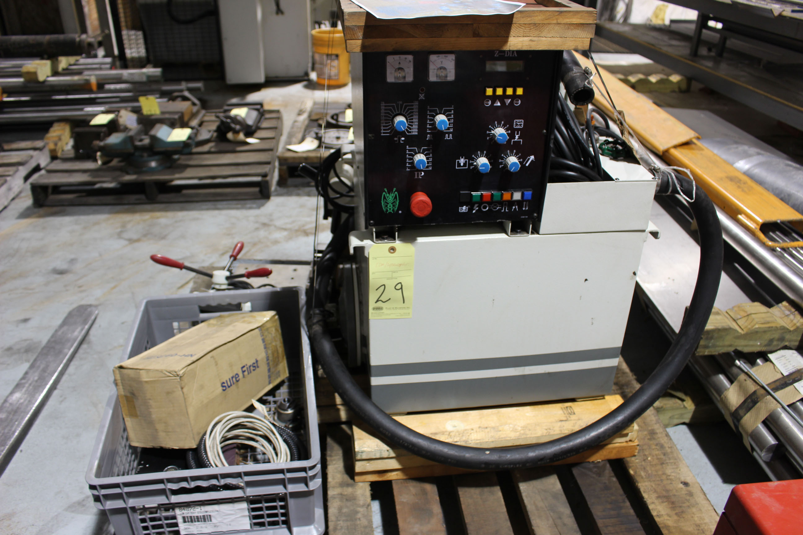 Lot 29 - PROGRAMMABLE EDM/TAP DISINTEGRATOR, CHEVALIER, 15 amp, w/head, mag. base & various accessories