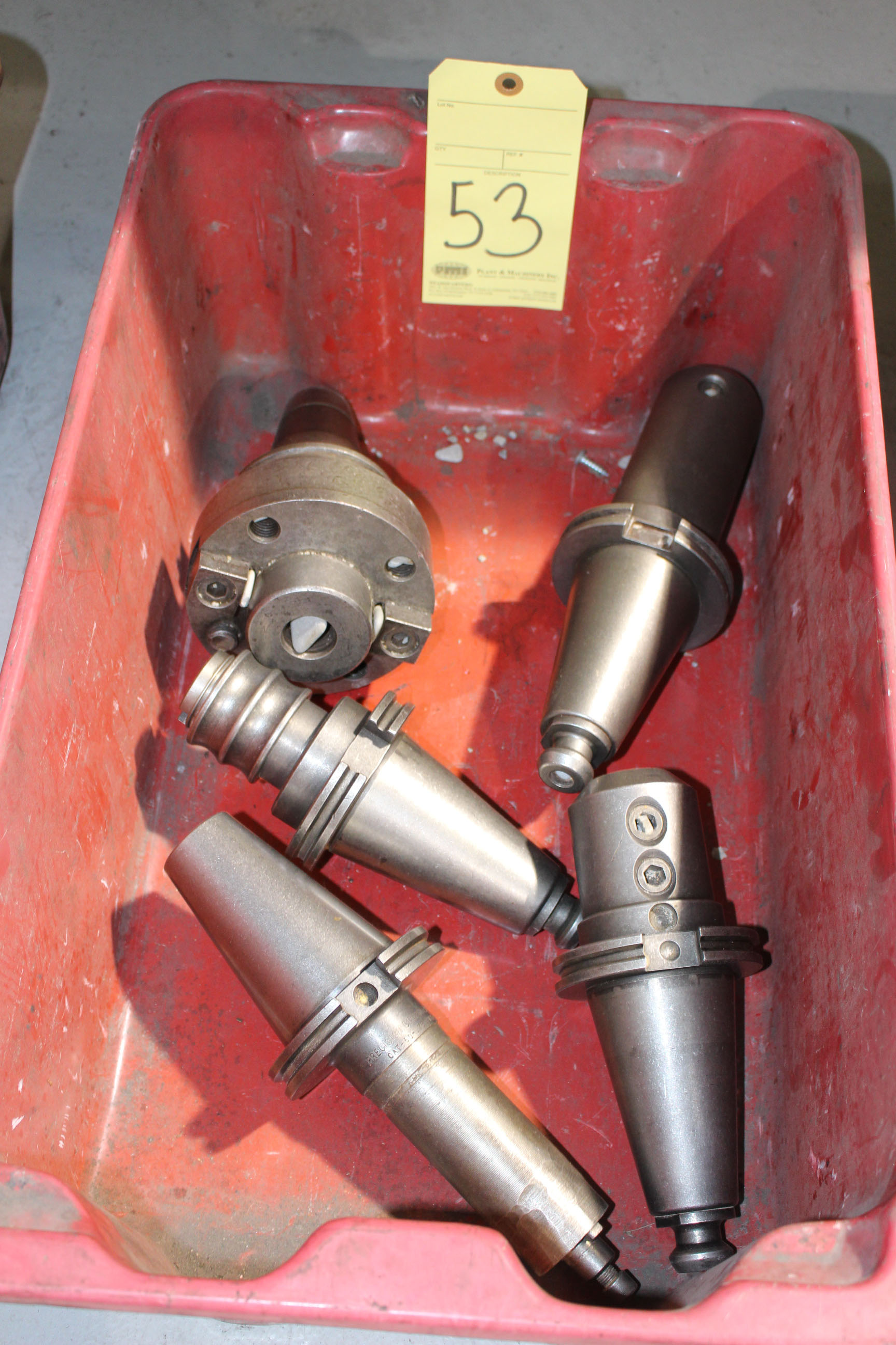Lot 53 - LOT OF CAT-50 TOOLING, approx. 5 (in one bin)