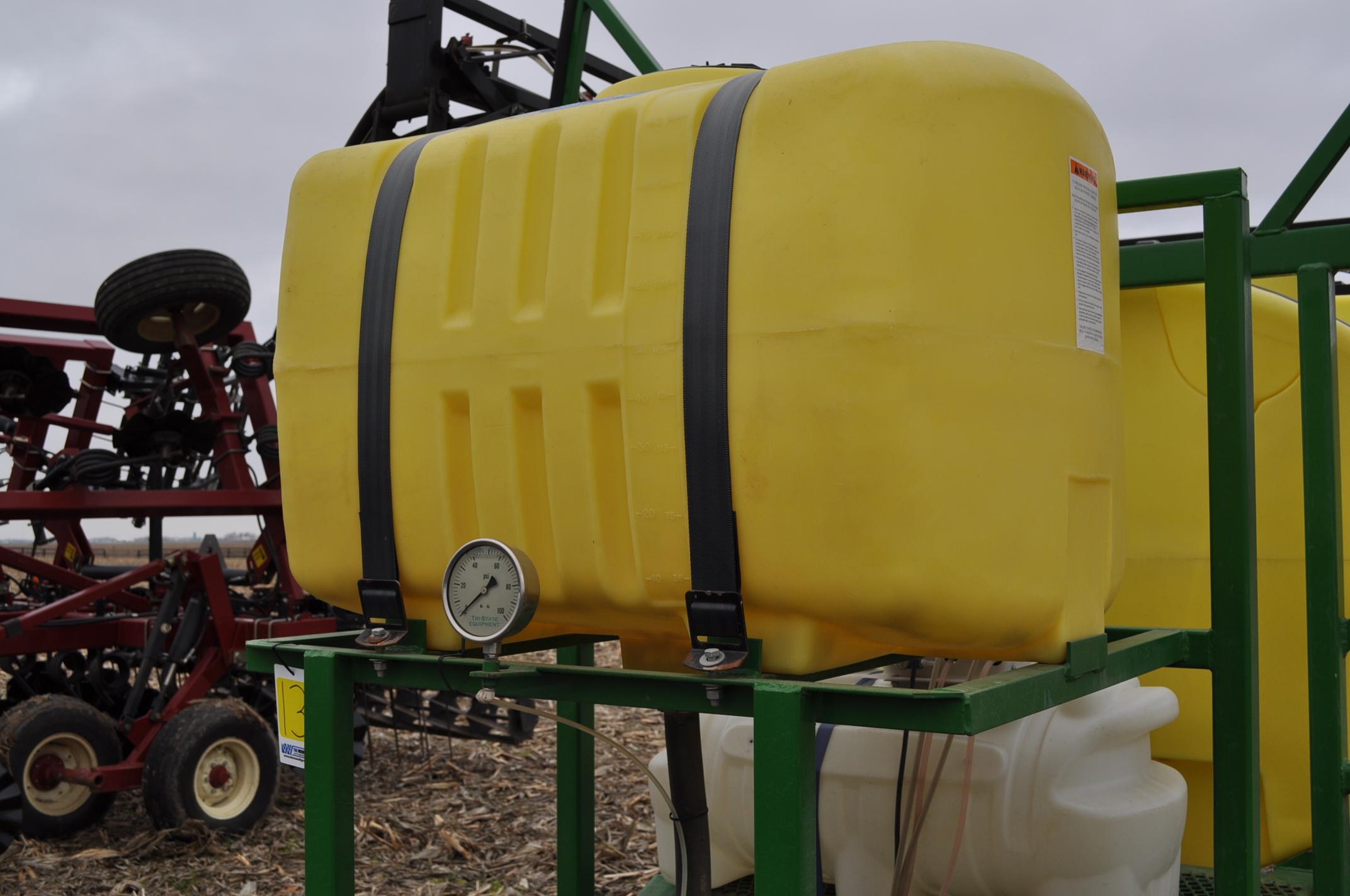 60' Spray King 1090 sprayer, 1000 gal poly tank, 100 gal rinse tank, foam marker, inductor, hyd - Image 7 of 21