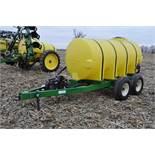 "1000 gallon Spray King tender trailer, tandem axle, 2"" Briggs & Stratton engine, 11L-15 tires"
