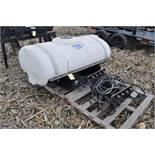 200 gallon front mount tankfor New Holland T7 tractor, poly tank, brackets for SuperSteer or