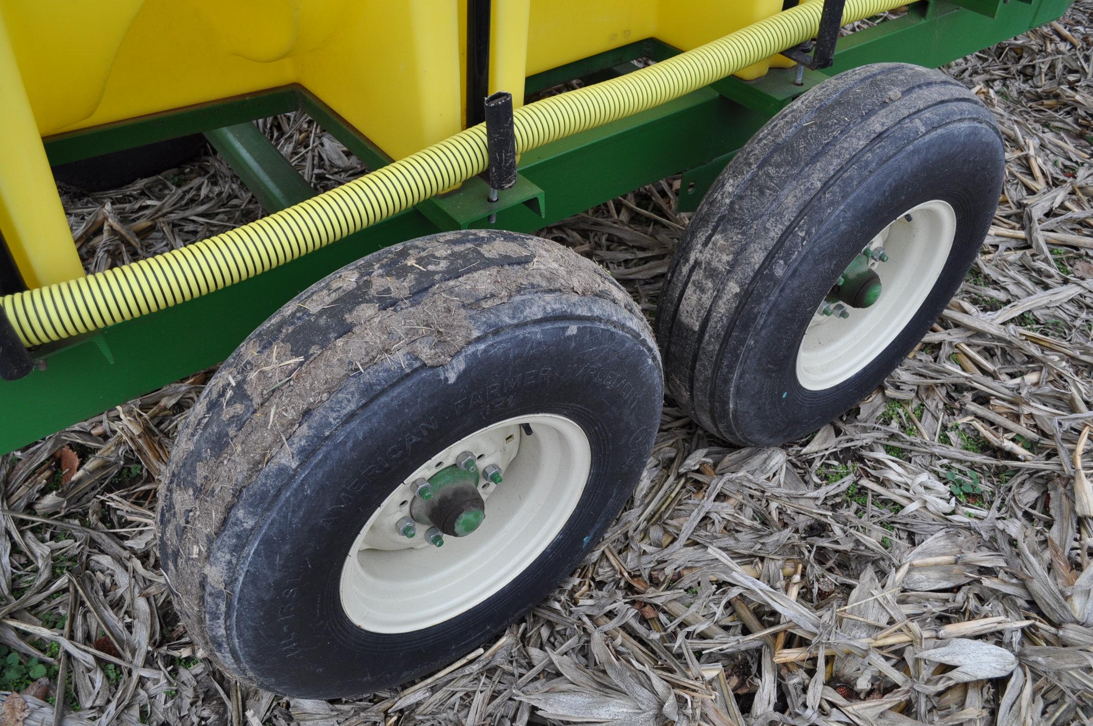 "1000 gallon Spray King tender trailer, tandem axle, 2"" Briggs & Stratton engine, 11L-15 tires - Image 8 of 12"