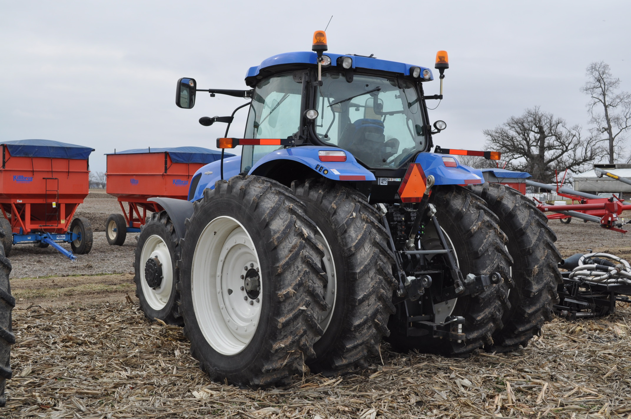 New Holland T7.250 tractor, 480/80 R 46 duals, Michelin 380/85 R 34 front, Super Steer, front wts, - Image 2 of 28