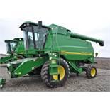 John Deere 9450 combine, NEW 24.5-32 drive, NEW 14.9-24 rear, chopper, spreader, 3335 engine hrs,
