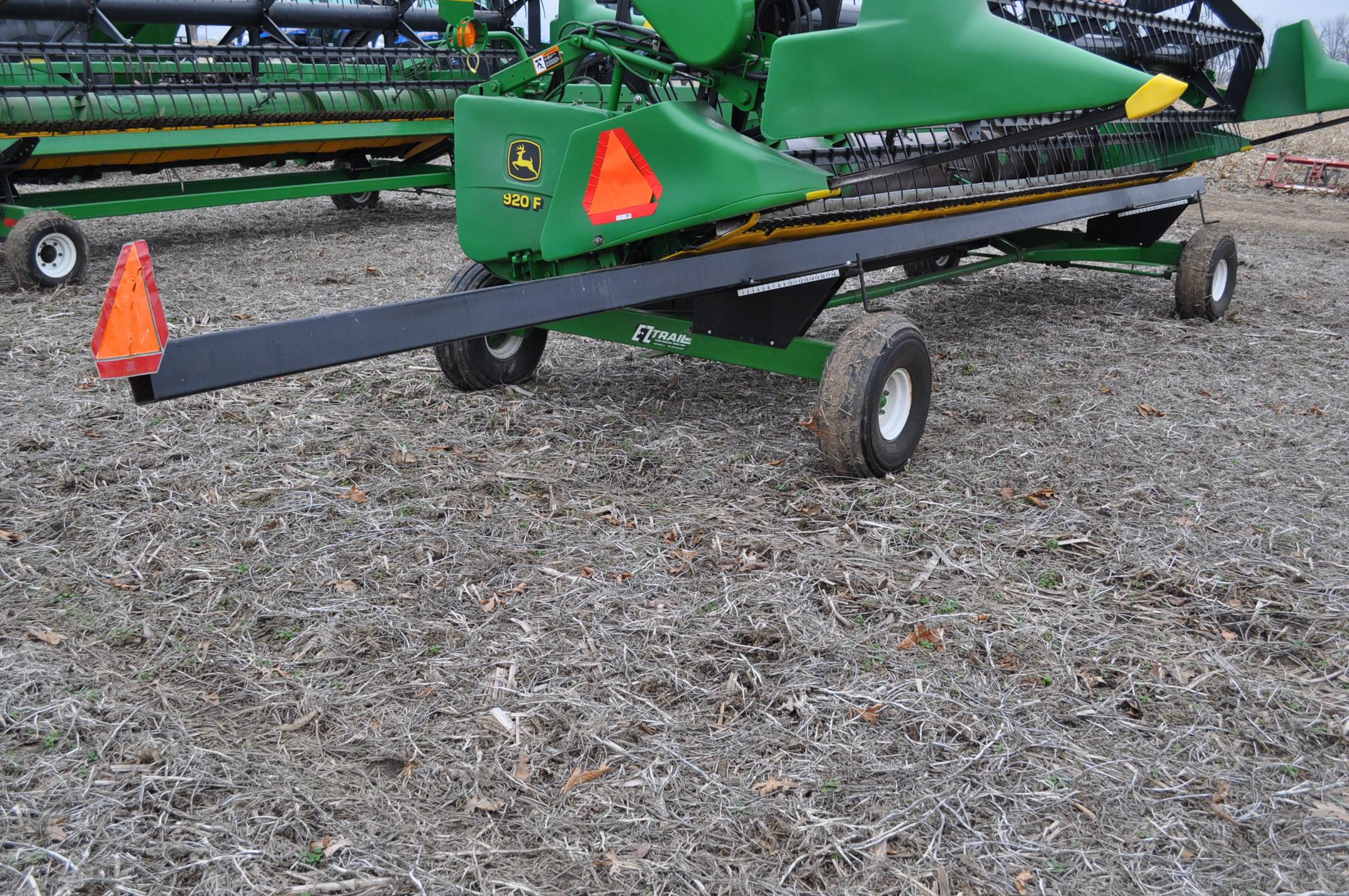 30' EZ Trail 980 header cart, 9.00-10 tires - Image 4 of 7