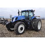 New Holland T7.250 tractor, 480/80 R 46 duals, Michelin 380/85 R 34 front, Super Steer, front wts,
