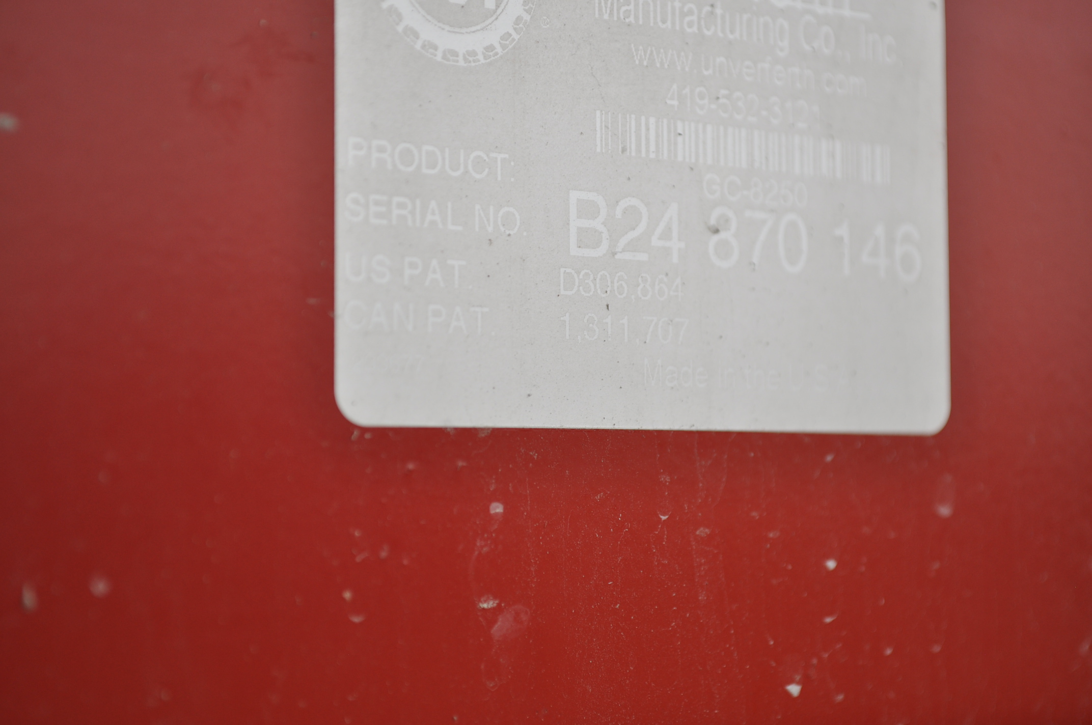 Unverferth 8250 grain cart, corner auger, 30.5L-32 diamond tread tires, lights, roll tarp, hyd - Image 11 of 11