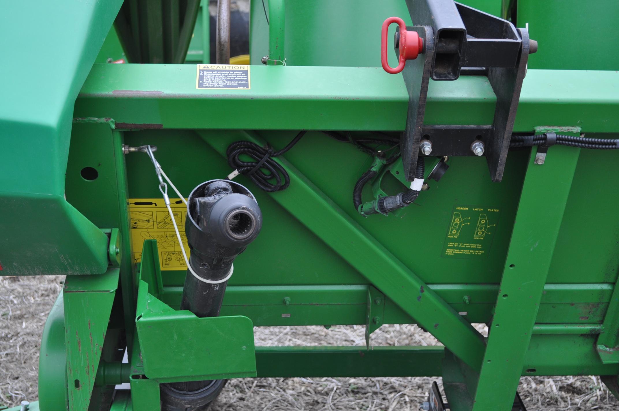 John Deere 693 corn head, poly, hyd drive, down corn reel, pto shafts, SN 655654 - Image 6 of 17