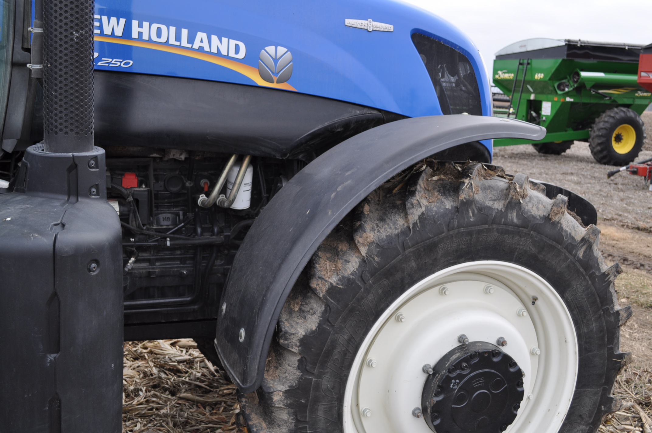 New Holland T7.250 tractor, 480/80 R 46 duals, Michelin 380/85 R 34 front, Super Steer, front wts, - Image 14 of 28