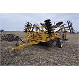 """17' Landoll Finisholl 850 mulch finisher, front blades, 9"""" sweeps, 3 bar drag, hyd fold"""