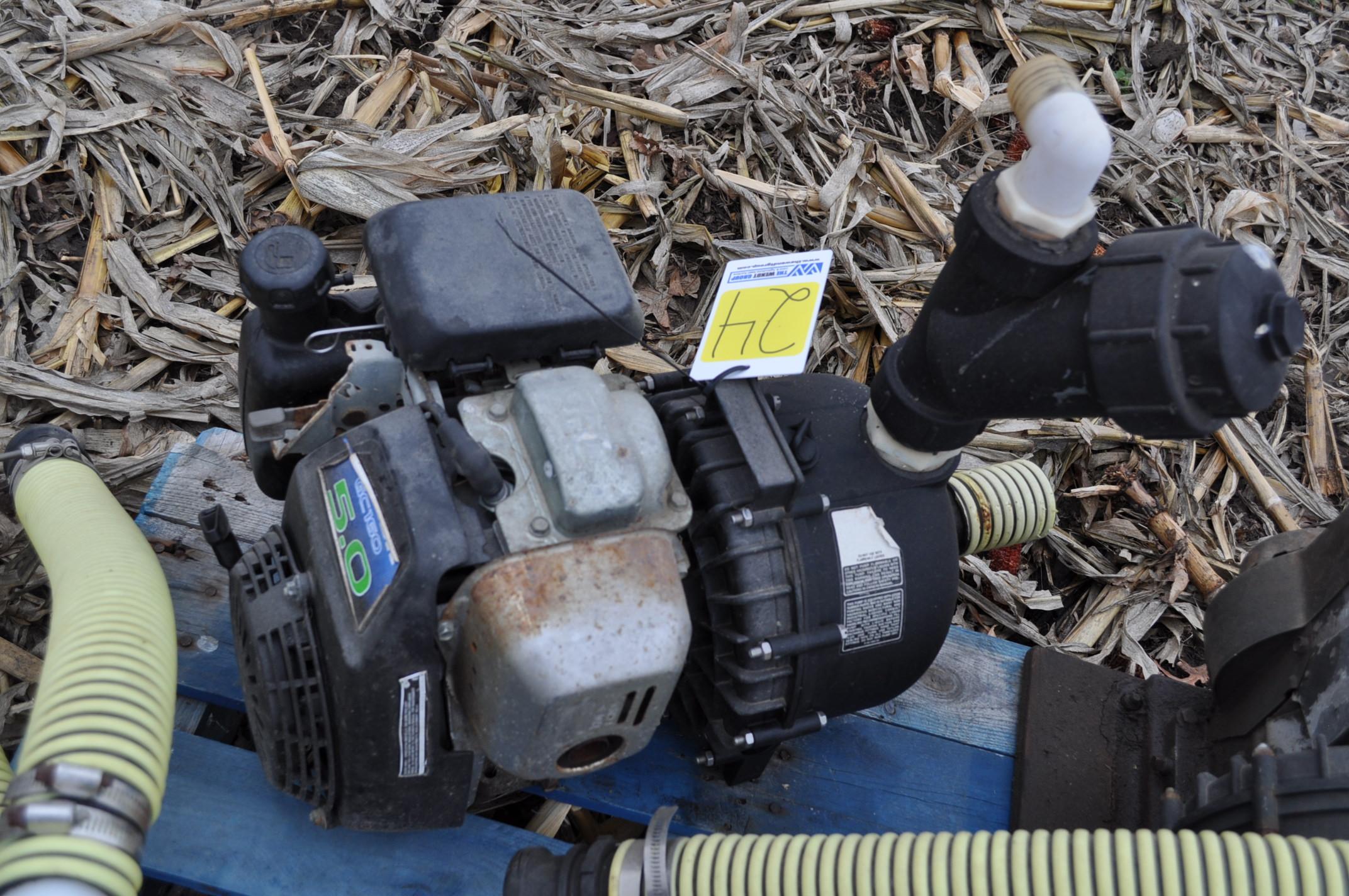 "2"" transfer pump, Honda engine, Pacer poly pump - Image 3 of 3"