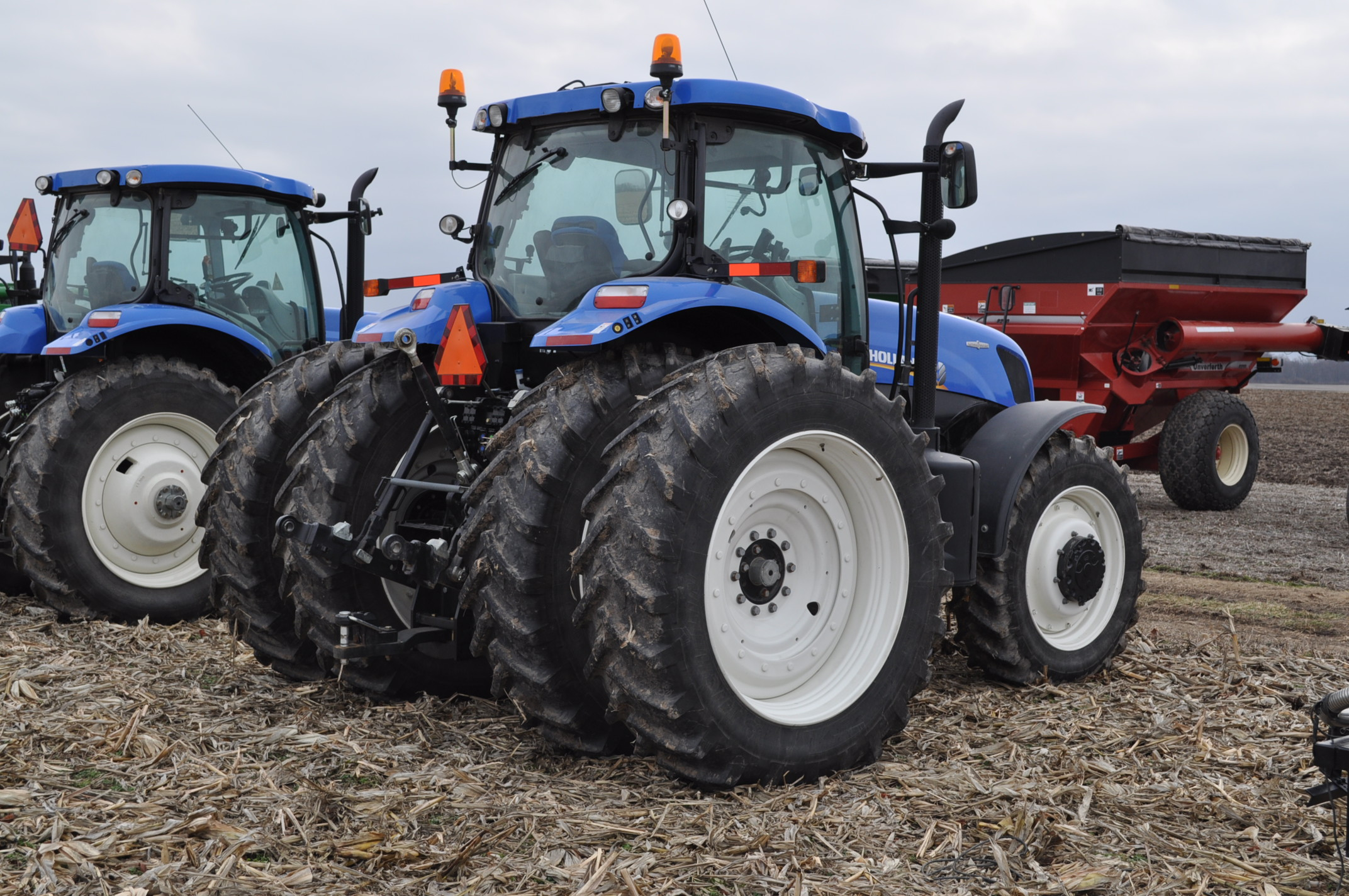 New Holland T7.250 tractor, 480/80 R 46 duals, Michelin 380/85 R 34 front, Super Steer, front wts, - Image 3 of 28