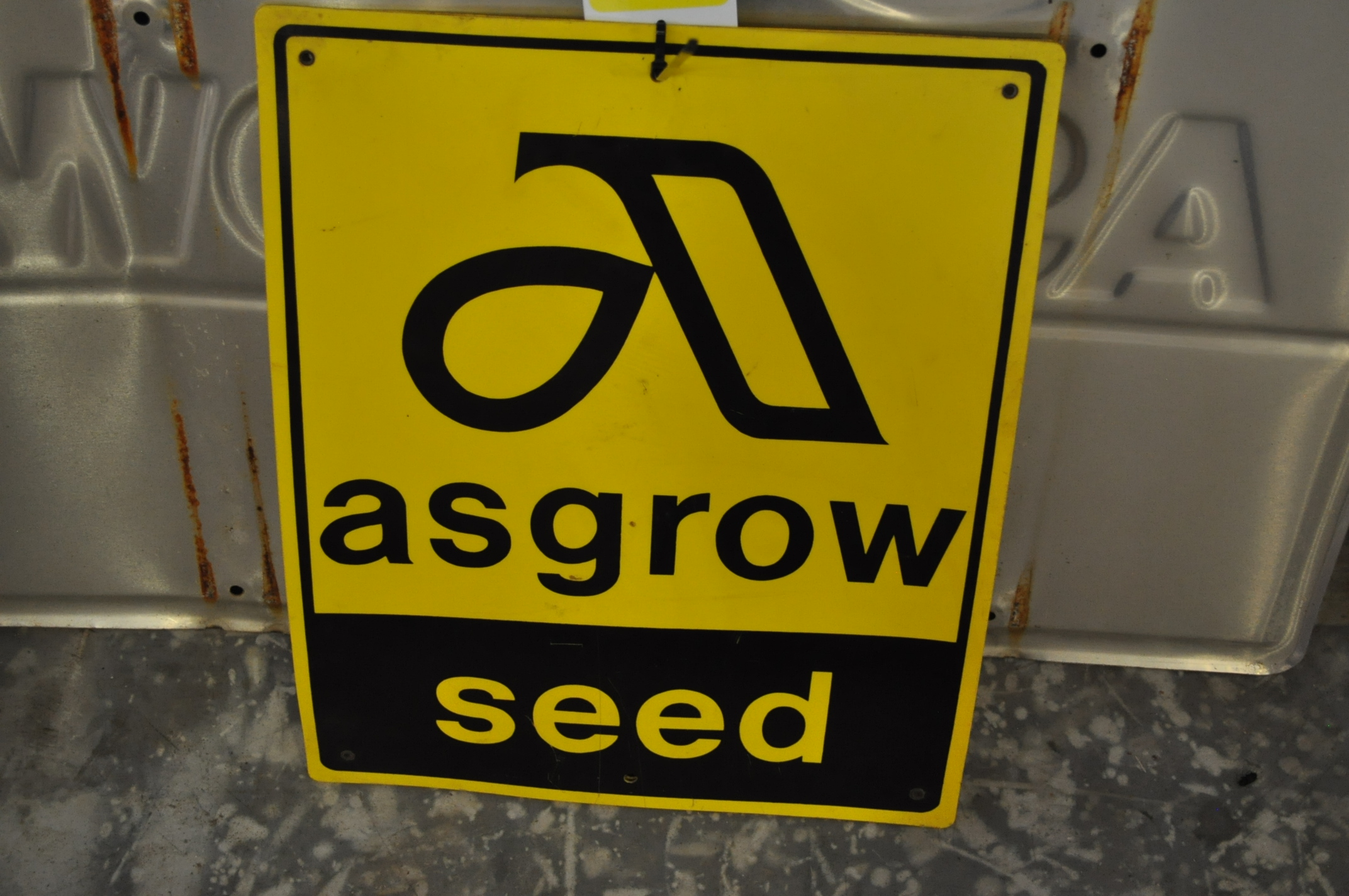 Plastic Asgrow seed sign - Image 2 of 2