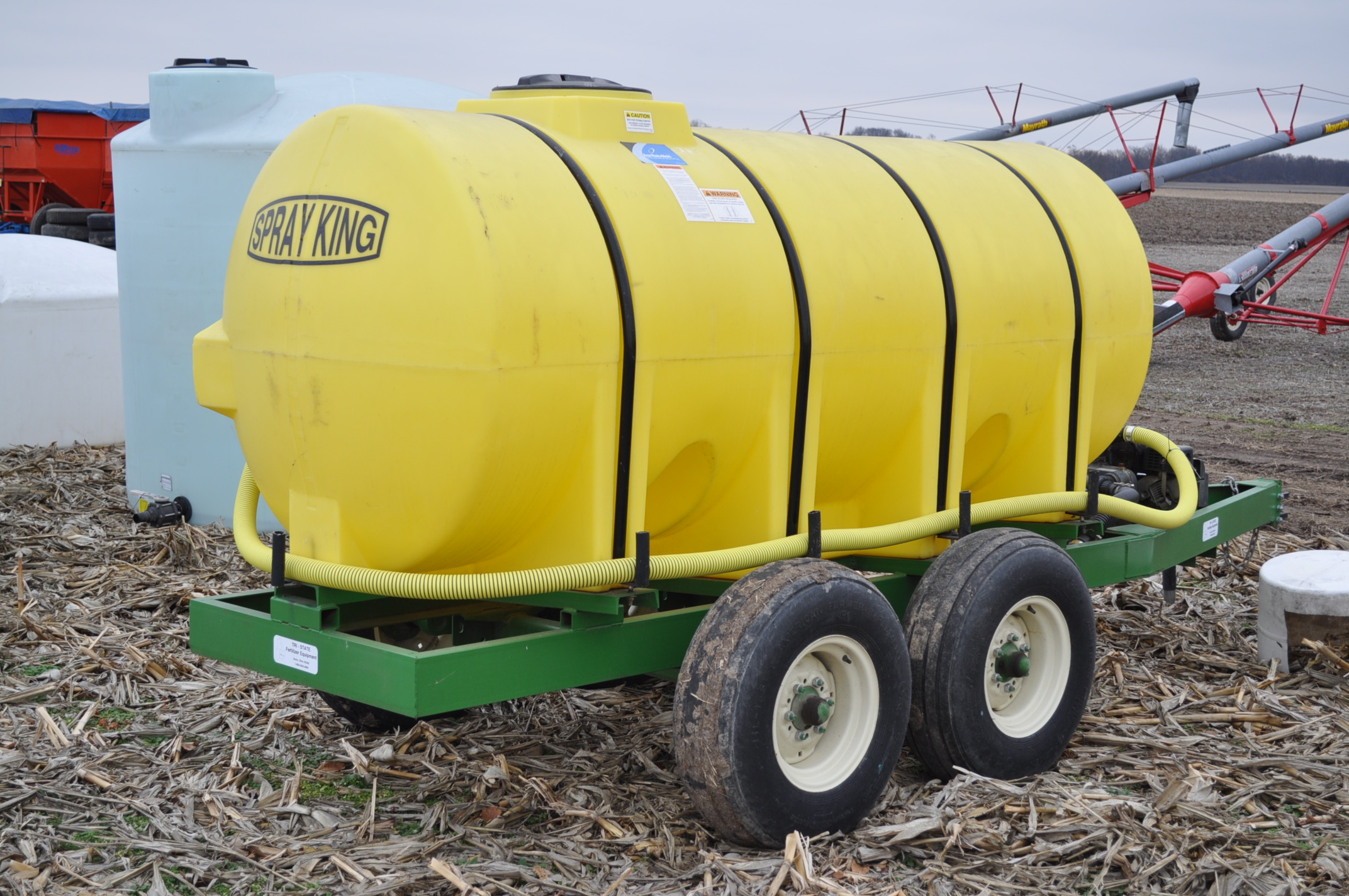 "1000 gallon Spray King tender trailer, tandem axle, 2"" Briggs & Stratton engine, 11L-15 tires - Image 3 of 12"