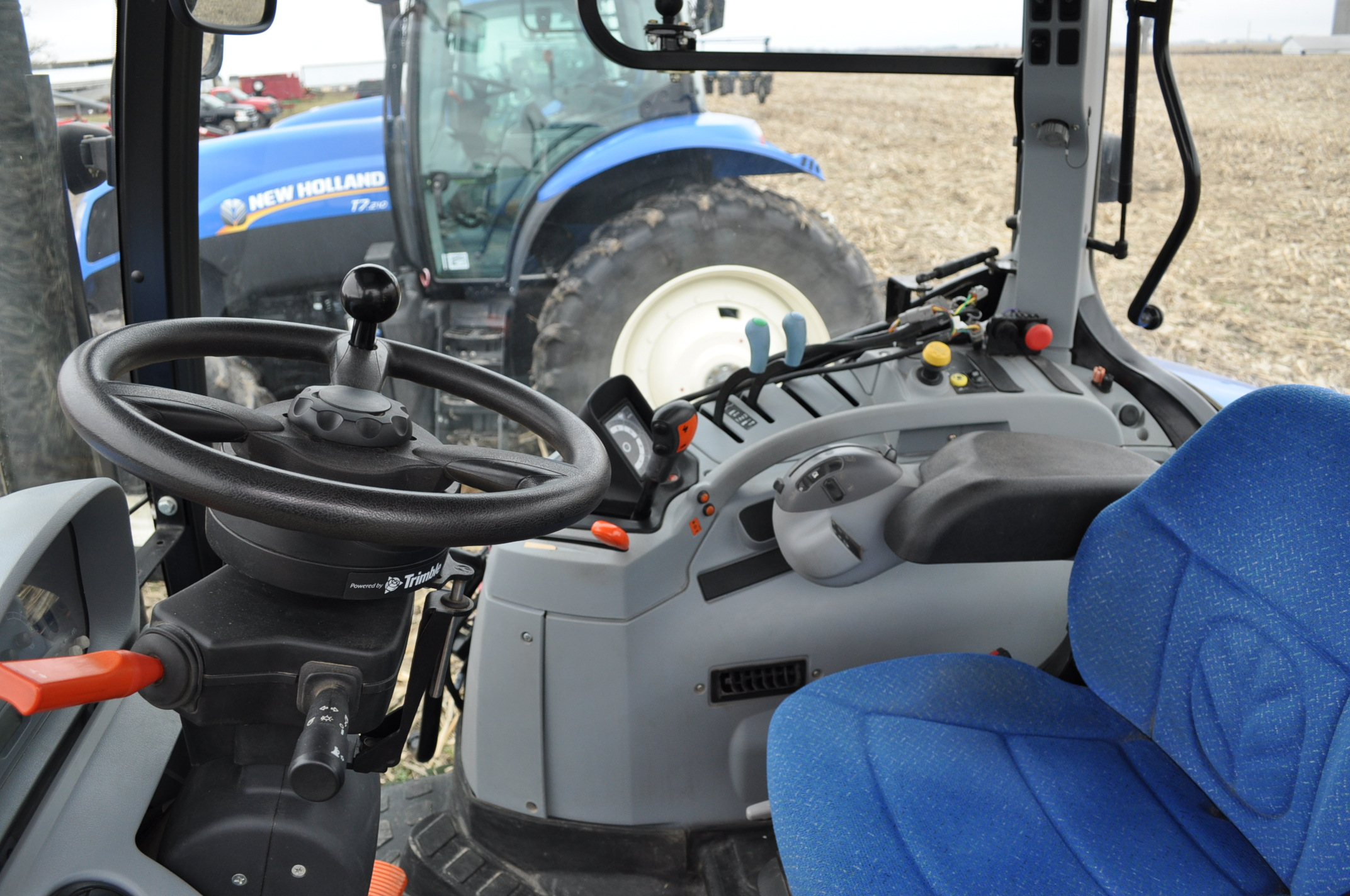 New Holland T6030 tractor, CHA, 16.9 R 38 tires, 11.00-16 front, 6 front wts, 3 hyd remotes, 3 pt, - Image 14 of 21