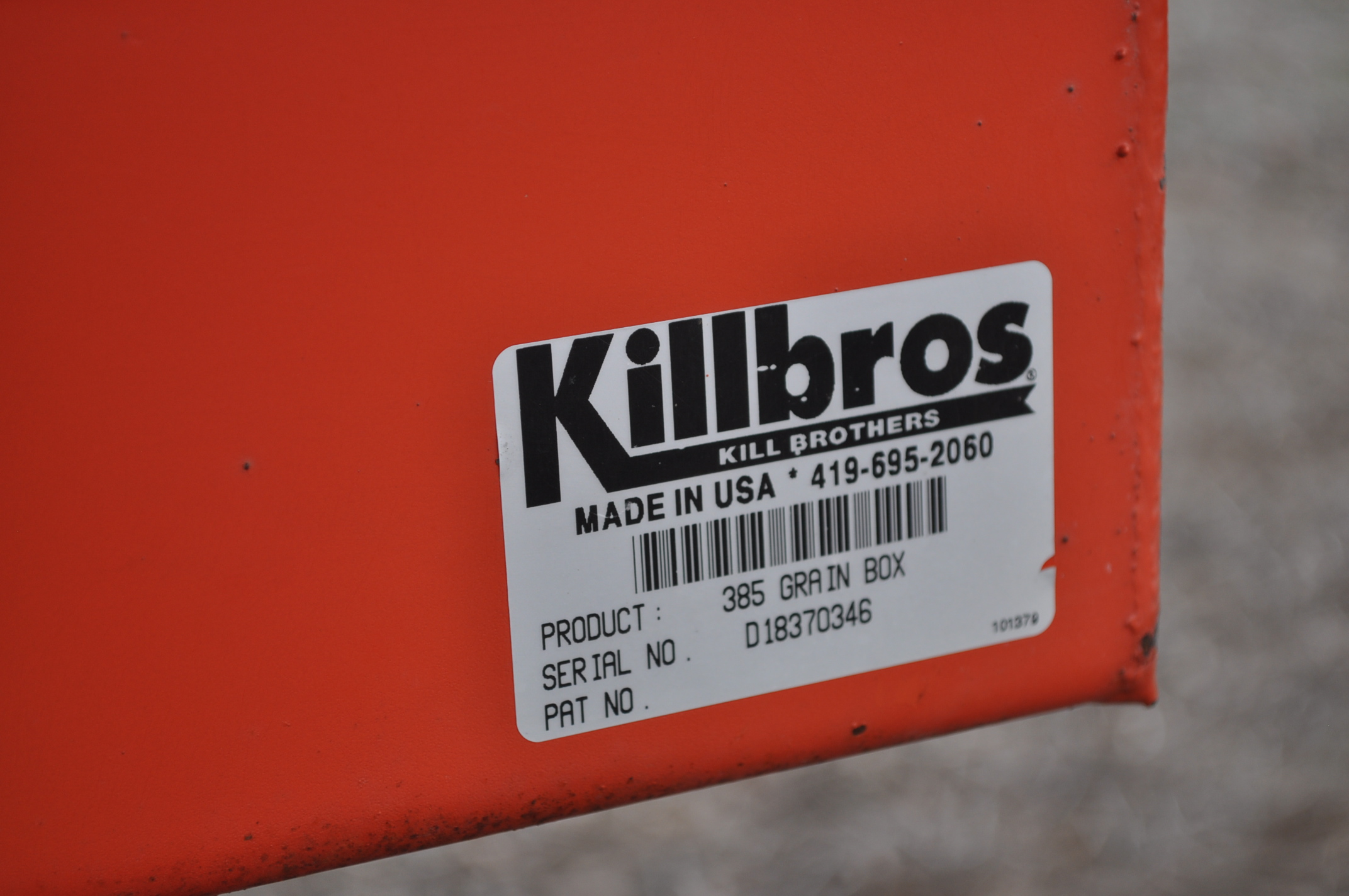 Killbros 385 gravity bed wagon, tarp, steel rails, Killbros 1386 gear, 11 R 22.5 tires - Image 5 of 7