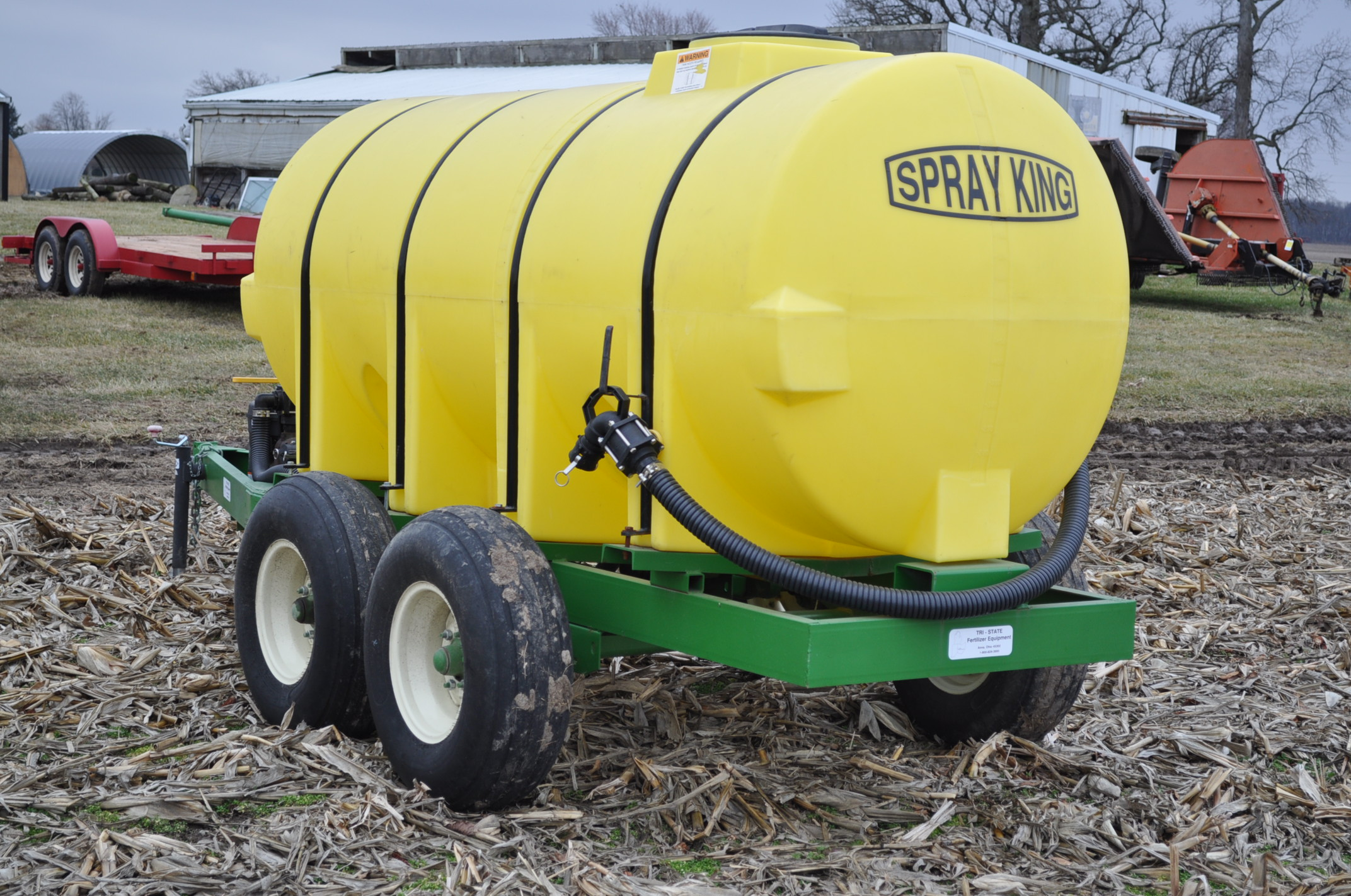 "1000 gallon Spray King tender trailer, tandem axle, 2"" Briggs & Stratton engine, 11L-15 tires - Image 2 of 12"